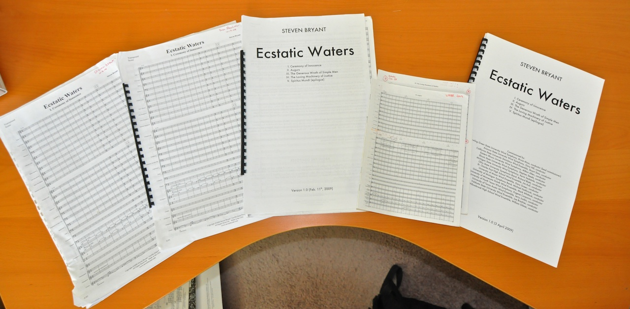 Photo of the Ecstatic Waters premiere scores