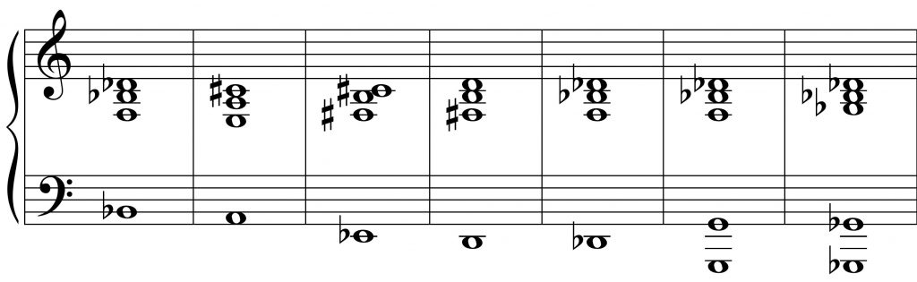 The chord progression from Solace, reused in the Concerto for Alto Saxophone